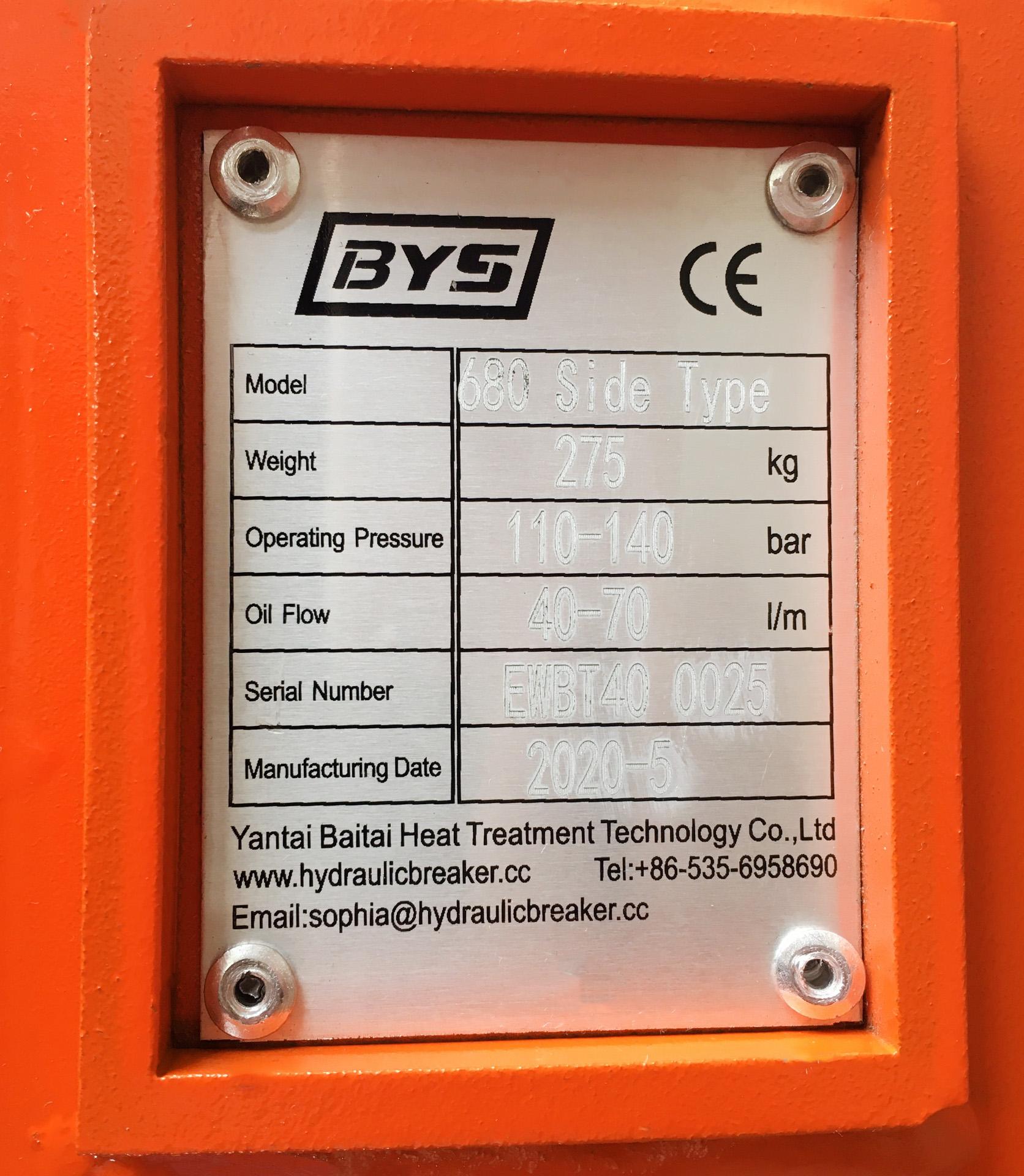 Búa phá đá BAIYISHENG 680 -5